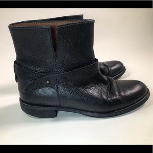 Madewell Black Leather Biker Moto Wrap Ankle Boots